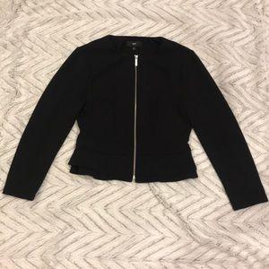 Target black suit jacket gold zipper size M